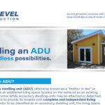 Building and ADU
